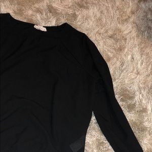 Black polyester long sleeve